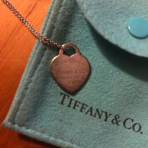 Authentic Tiffany Dog Tag Necklace